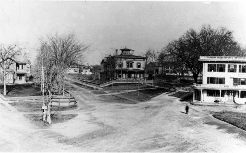 Elm Sq. circa 1890 with the bandstand