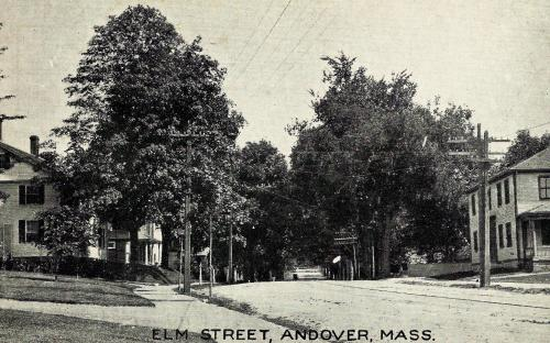 18 Elm on left in this Post Card image - Ames house on right