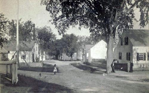 Frye Village, Poor St. crossing Lowell St. circa 1890