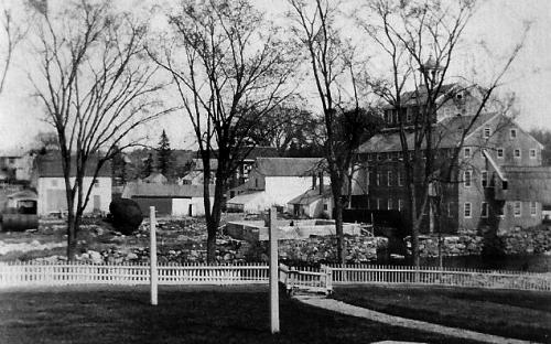 View east to Smith & Dove mill, note Kaye House far left on original site