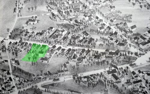 1882 Birdseye detail of High St