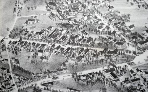 1882 Birdseye map detail of High St.