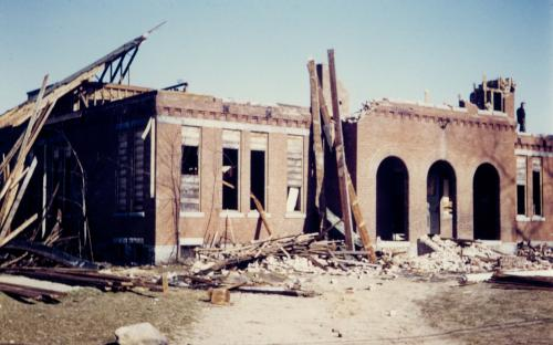 Indian Ridge School dismantled April 1958