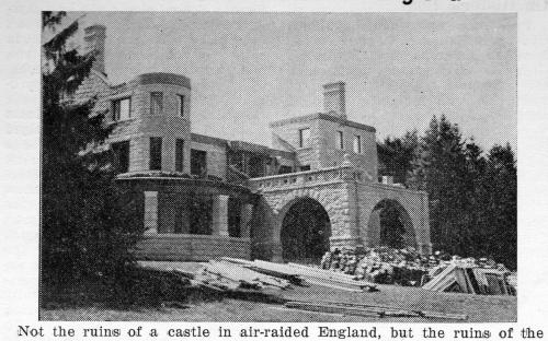 Joyce Castle being razed - Summer 1941