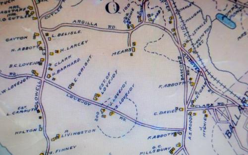 1906 Map detail of of Lovejoy Rd.
