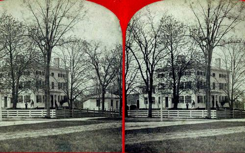 Squire Farrar house at original locatio circa 1868 - 70