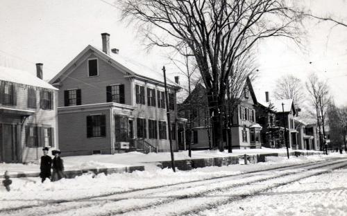 Circa 1920 - Center house is Tracy House