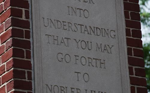 North pillar plaque