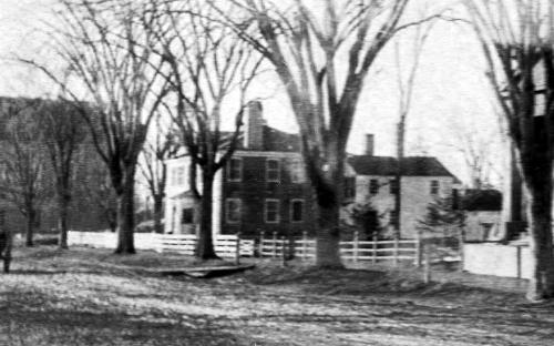 Mark H. Newman house on original lot circa 1884-5 - detail