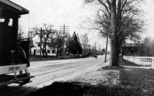 Leitch house on left  354 No. Main, circa 1910, Donald house on right