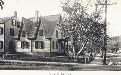 PAE Club House circa 1890 looking north on Main St.