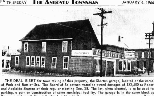 Park St. Shorten Garage - Jan. 6, 1966