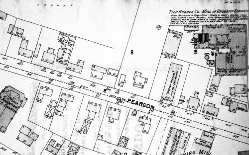 1896 Sanborn map of Pearson St.