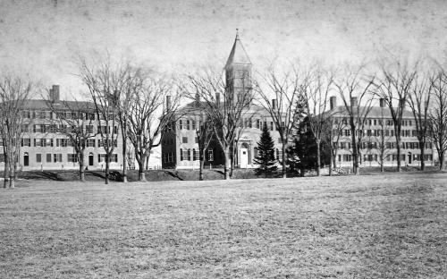 Phillips Hall (Foxcroft) Bartlet Chapel, Bartlet Hall c. 1885