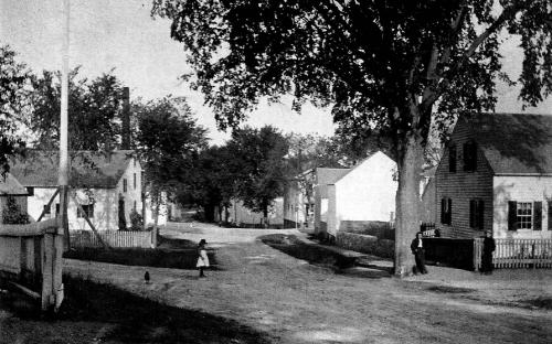 Taylor home at 37 Poor St. on right - Frye Village