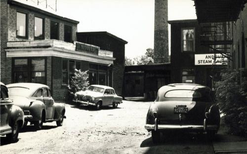 Post Office Ave 1951 - rear view from Elm St.