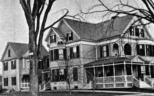 1896 Views of Andover Ballard House and barn facing Main St.