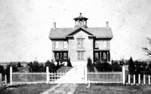 Punchard Free School 1855 - first high school building