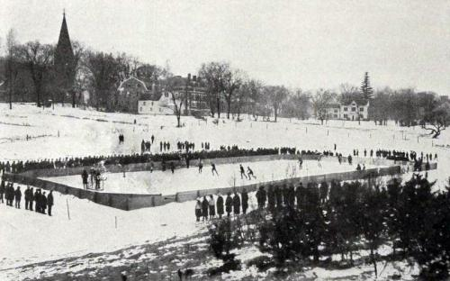 Rabbits Pond with Wood's house on Bartlet St. c. 1900