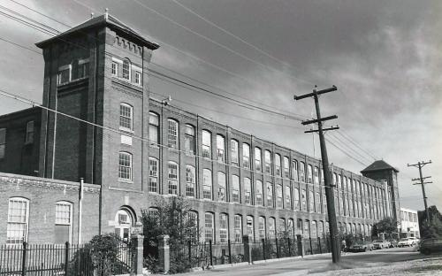 Trer Rubber Co. 1975 - annex on far right, white building