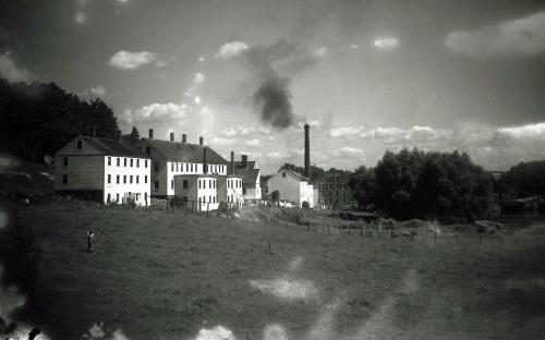 Pasture circa 1890 view north from Shawsheen Rd. to Marland Mill