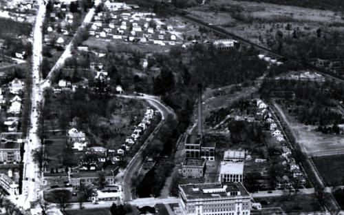 1940 view of North Main and Union Streets prior to Rt. 495