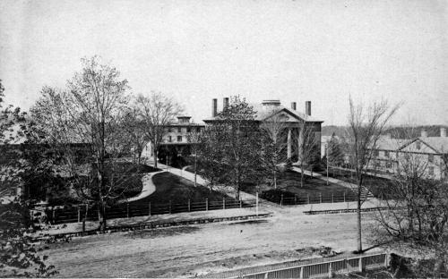 Abbot Academy circa 1885 - South Hall on left