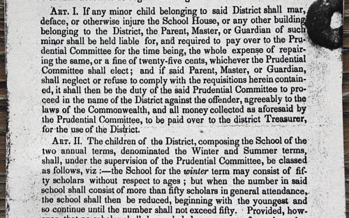 By-Laws June 1841 Scotland District