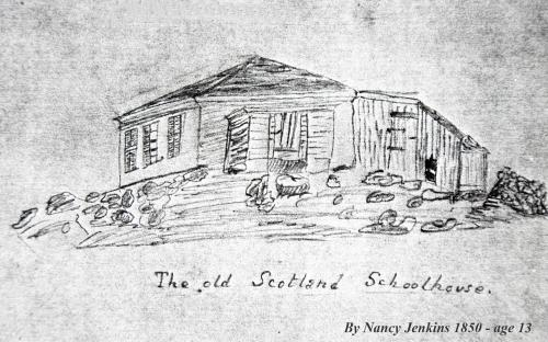 Scotland School by Nancy Jenkins 1850