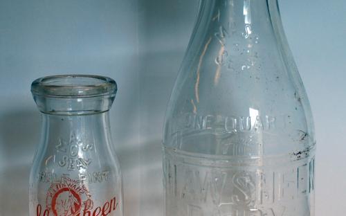 Shawsheen Dairy mlik bottles