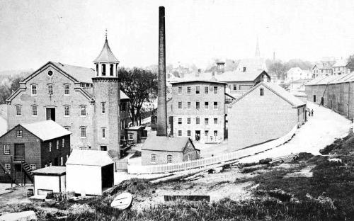 Smith & Dove circa 1890 - note new addition on stone mill