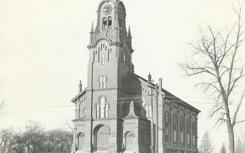 South Church circa 1920 when painted brown