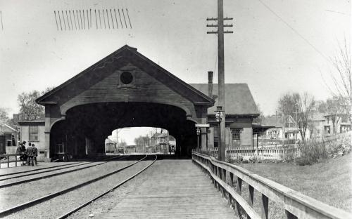 B&M Rail Station circa 1900 Andover