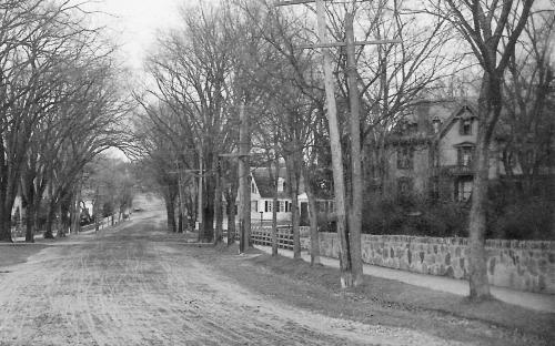 detail of Central St. Tyer Estate on right circa 1910