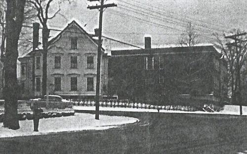 Tyer house and St. A's School 1957