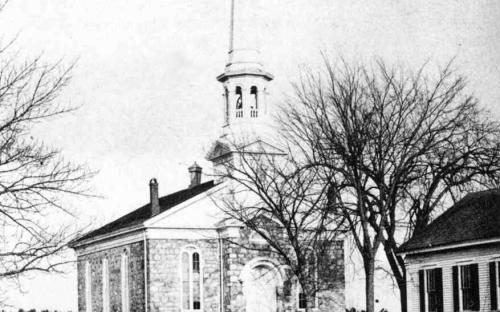 West Parish Church 1900 with Vestry