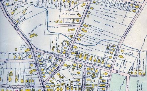 1906 map detail of Whittier Street