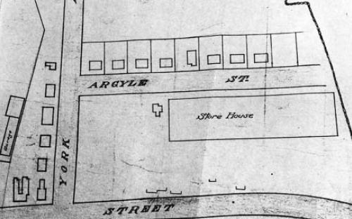 Map detail of Shawsheen Village 1921, the first Argyle St