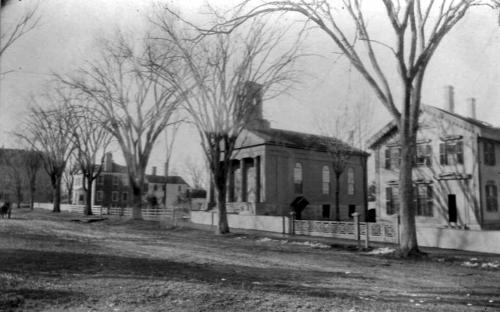 Newman House left - Christ Church - Church Rectory 1885