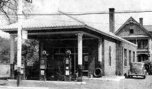 House behind filling station