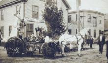 33 & 35 Park St. - c. July 4, 1907- Horribles Parade float