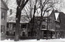 Small Pettingill-Swift building, Fluer de Lis Shop and Browns Shoe shop