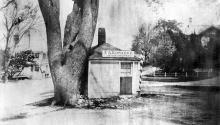 Hay Scales and Edwards Barbershop  circa 1865