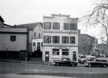 Imperial House - Central House in 1950 with the What Not Repair Shop