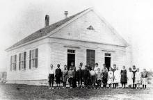 Scotland Schoolhouse - 1887 - Alice Jenkins teacher